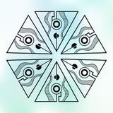 Abstract geometric symmetrical shapes color pattern. Vector background. Stock Photo