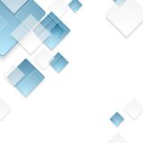 Abstract geometric tech blue squares design Stock Photos