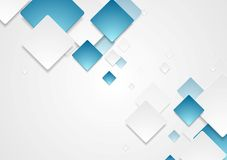 Abstract geometric tech paper squares design Royalty Free Stock Photography