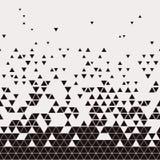 Abstract Geometric Techno Triangle Horizontally Seamless Pattern. EPS10 Vector stock illustration
