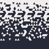 Abstract Geometric Techno Triangle Horizontally Seamless Pattern. EPS10 Vector vector illustration