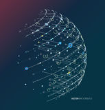 Abstract geometric technology design element. Royalty Free Stock Images