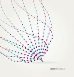 Abstract geometric technology design element. Royalty Free Stock Photography