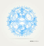 Abstract geometric technology vector design Royalty Free Stock Photo