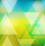Abstract geometric template with triangles Stock Image