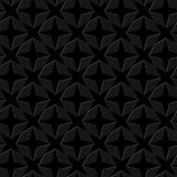 Abstract geometric texture. black background. star shapes. Vector seamless pattern Royalty Free Stock Photography