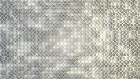 Abstract geometric texture of randomly extruded circles. Rendered in blender Royalty Free Stock Photos