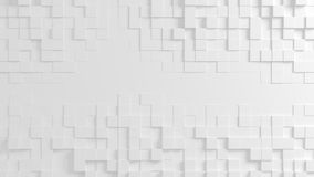 Abstract geometric texture of randomly extruded cubes. Rendered in blender Stock Images