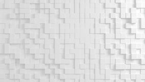 Abstract geometric texture of randomly extruded cubes. Rendered in blender Stock Photos