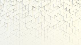 Abstract geometric texture of randomly extruded triangles. Rendered in blender Royalty Free Stock Photo
