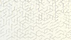 Abstract geometric texture of randomly extruded triangles. Rendered in blender Royalty Free Stock Images
