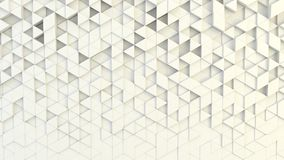Abstract geometric texture of randomly extruded triangles. Rendered in blender Stock Photo