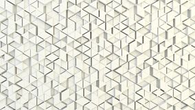 Abstract geometric texture of randomly extruded triangles. Rendered in blender Royalty Free Stock Photography