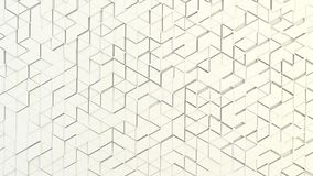 Abstract geometric texture of randomly extruded triangles. Rendered in blender Stock Images