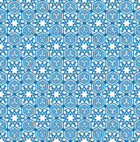 Abstract geometric texture Snow crystal seamless pattern in orie Royalty Free Stock Photos