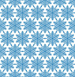 Abstract geometric texture Snow crystal seamless pattern Winter Stock Photos