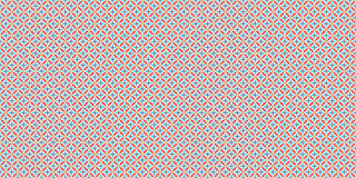 Abstract geometric tile background. Seamless pattern. Blue, red and orange Stock Photo