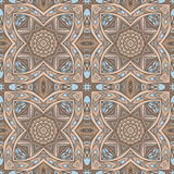 Abstract geometric tiled seamless pattern. Damask luxury  seamless ornamental vector tiles pattern for fabric Stock Photography
