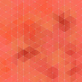 Abstract geometric tiles seamless pattern. Orange abstract geometric rumpled triangular background low poly style. Vector illustration Royalty Free Stock Image