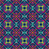 Abstract geometric  tiles seamless pattern. Vector  tiles seamless design. Festive colorful doodle pattern Stock Photo