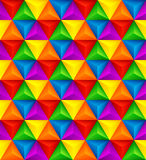 Abstract geometric triangle seamless 3D texture. Vector illustration. EPS10 Royalty Free Illustration