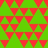 Triangle seamless pattern in new year colors Stock Image