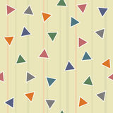 Abstract geometric triangle seamless pattern Royalty Free Stock Photos
