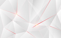 Abstract geometric triangle shape  with light flare on background. Royalty Free Stock Photography