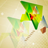 Abstract geometric triangles background. Stock Image