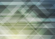 Abstract geometric triangles tech background Stock Photo