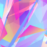 Abstract geometric triangular background. Vector abstract geometric triangular background. Pink and blue vector illustration