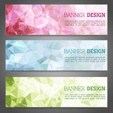 Abstract geometric triangular banners set Royalty Free Stock Image