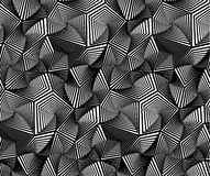Abstract Geometric Triangular Vector Seamless Pattern Stock Photo