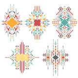 Abstract geometric tribal design elements Stock Photography
