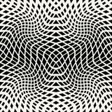 Abstract geometric trippy black and white background pattern. Graphic Stock Images