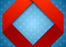 Abstract geometric USA colors background Royalty Free Stock Photo