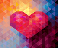 Abstract Geometric Valentine card background Stock Images