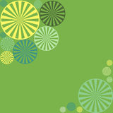 Abstract geometric vector background with circle shapes like lemon slices good for invitation design green yellow turquoise teal Royalty Free Stock Photography