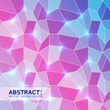 Abstract geometric vector background. Abstract colorful polygonal geometrical background. Geometric mosaic backdrop. Vector Illustration. Design by flyer, banner Stock Images