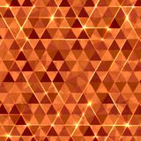 Abstract geometric vector background with glowing Stock Photography