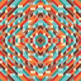 Abstract geometric vector background for presentation, booklet, website and other design project. Mosaic colored pattern with 3D. Royalty Free Stock Photos