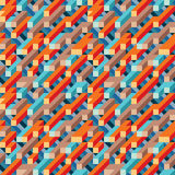 Abstract geometric vector background for presentation, booklet, website and other design project. Mosaic colored seamless pattern Royalty Free Stock Photo