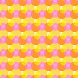 Abstract geometric vector seamless pattern fun bubbles Royalty Free Stock Image