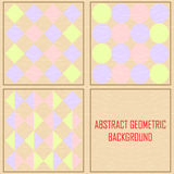 Abstract geometric Vintage vector background Royalty Free Stock Photo