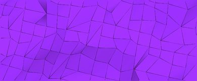 Abstract geometric violet background. 3D illustration for web or cover design. Stock Images