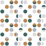 Abstract geometric wallpaper with semi circles and circles. Seamless pattern in scandinavian style. Vector background royalty free illustration
