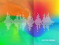 Abstract geometric wave color background. Vector, illustration vector illustration