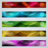 Abstract geometric web banners templates. Abstract geometric style colorful web banners vector design templates collection royalty free illustration