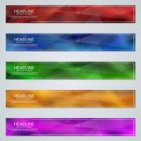 Abstract geometric web banners templates. Abstract geometric style colorful web banners vector design templates collection vector illustration