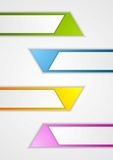 Abstract geometric web sticker banners Stock Photography